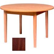 "Georgia Chair Round Laminate Top Juvenile Table 48""W X 48""D X 25""H, Walnut Finish"