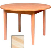 "Round Solid Oak Table, Wood Edge Band 48""W X 48""D X 29""H, Natural Finish"