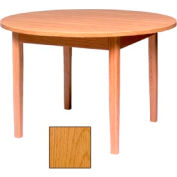 "Round Solid Oak Table, Wood Edge Band 60""W X 60""D X 29""H, Provincial Finish"