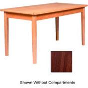 """Solid Oak Table 30""""W X 60""""D X 27""""H, Walnut Finish"""