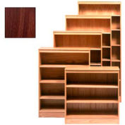 "Bookcase With 3 Adj. Shelves 36""W X 12""D X 48""H, Walnut Finish"