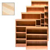 "Bookcase With 6 Adj. Shelves 36""W X 12""D X 84""H, Natural Finish"