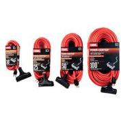 Carol 00597.61.04 100' Outdoor Powr-Center ® Extension Cord, 12awg 15a/125v -Orange - Pkg Qty 2