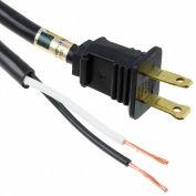 Carol 01278.70.01 8' Sjt Power Supply Replacement Cord, 16awg 13a/125v - Black - Pkg Qty 30 - Pkg Qty 30