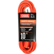Carol® 03318.63.04 10' Safety Orange Extension Cord, 16awg 13a/125v