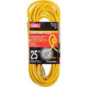 Carol 03390.63.05 25' Lifetime Plus  Super Flex  Lighted Ext. Cord/14awg 15a/125v Yellow