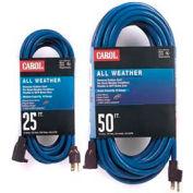 Carol 03667.63.07 50' All Weather Extension Cord, 12awg 15a/125v - Blue - Pkg Qty 2 - Pkg Qty 2