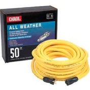 Carol 03685.61.05 50' High Visibility All Weather Extension Cord, 10awg 15a/125v -Yellow -Pkg Qty 2 - Pkg Qty 2