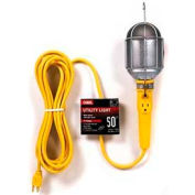 Carol 04455.60.05 Metal Guard Utility Light W/25' Cord, Grounded Outlet, 16awg 13a/125v, Yellow - Pkg Qty 12