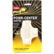 Carol 04781.96.17 Plug-It /#174; Powr-Center /#174; Adapter 15a/125v - Beige - Pkg Qty 5 - Pkg Qty 5