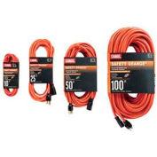 Carol® 06826.63.04 25' Safety Orange Extension Cord, 12awg 15a/125v - Pkg Qty 4