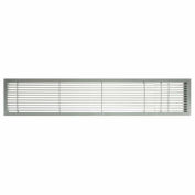 "AG10 Series 6"" x 24"" Solid Alum Fixed Bar Supply/Return Air Vent Grille, Brushed Satin w/Door"