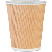 Genuine Joe GJO11255PK - Rippled Hot Cups, 8 Oz., 25/Pack, Brown