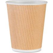 Genuine Joe GJO11255PK - Rippled Hot Cups, 8 Oz., 25/Pack, Brown