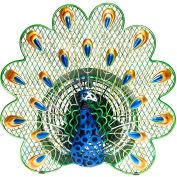 "Deco Breeze® Peacock Figurine Fan, Metal, 13""L x 13""W x 13""H - DBF0268"