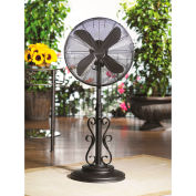 "Deco Breeze® Ebony Adjustable Outdoor Fan, 18""L x 18""W x 50""H - DBF0624"