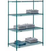 "Nexel® Green Epoxy Wire Shelving, 42""W X 24""D X 54""H"