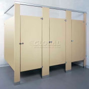 ASI Global Partitions Mid Panel to Wall/Panel to Pilaster Bracket Kit for Steel Partitions - Zamac