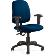 Global™ Goal - Low Back Pneumatic Operator w/Arms - Ocean Fabric Upholstery