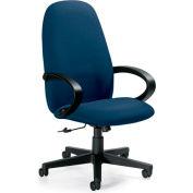 Global™ Enterprise - Tilter Office Chair - Fabric - High Back - Navy - Enterprise Series