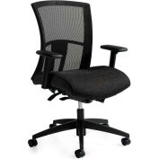 Global™ Vion Mid Mesh Back Weight Sensing Synchro-Tilter Chair Black Coal