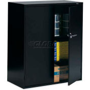 """9300 Series Storage Cabinets, 36""""W x 18""""D x 42""""H, Latched Handle, Black"""