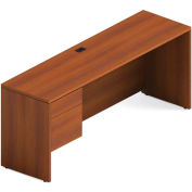Global™ Adaptabilities - Single Left Pedestal Credenza - Avant Honey Laminate