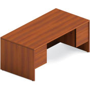 Global™ Adaptabilities - Double Pedestal Desk - Avant Honey Laminate