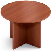 "Global™ Boardroom Table - Round - Laminate - 42"" - Avant Honey"