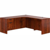 """Offices To Go™ L Desk with Single Pedestal - 72"""" - American Dark Cherry - Bundle #13"""