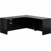 "Offices To Go™ L Desk with Single Pedestal - 72"" - American Espresso - Bundle #13"