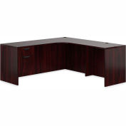 "Offices To Go™ L Desk with Single Pedestal - 72"" - American Mahogany - Bundle #13"