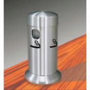 "Glaro Deluxe 3-1/2"" Dia. x 8""H Table Top Smokers Post, Satin Aluminum - 4405-SA"