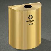 Glaro Recyclepro Half Round Satin Brass, 29 Gallon Bottles/Cans - B2499BE-BE-B&C