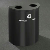 Glaro Recyclepro Half Round Bronze Vein, (2) 14-1/2 Gallons Bottles & Cans - BC2499BV-BV-B/C