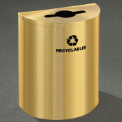 Glaro Recyclepro Half Round Satin Brass, 29 Gallon Mixed Recyclables - M2499BE-BE-R
