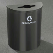 Glaro Recyclepro Half Round Burgundy, 29 Gallon Mixed Recyclables - M2499BY-BY-R