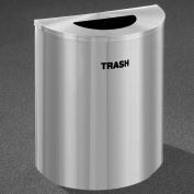 Glaro Recyclepro Half Round Satin Aluminum, 29 Gallon Trash - T2499SA-SA-T