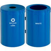Glaro Value Recyclepro 2 Unit Midnight Blue, (2) 41 Gallon Bottles/Cans/Waste - 2042-2