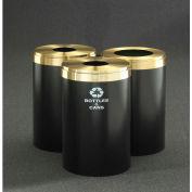 Glaro Value Recyclepro 3 Unit Midnight Blue/Satin Aluminum (3) 41 Gal Bottle/Can/Paper/Waste -2042-T