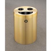 Glaro Recyclepro 3 Stream Satin Brass, (3) 11 Gallon Bottles/Cans/Trash - BCT-20-BE