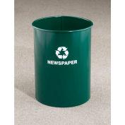 Glaro Recyclepro Single Stream Open Top Satin Black, 12 Gallon Recycle - RO-1326