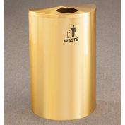 Glaro Recyclepro Single Stream Half Round Satin Brass, 14 Gallon Waste - W1899BE