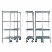 "Space-Trac 5 Unit Storage Shelving Chrome 72""W x 24""D x 74""H - 14 Ft."