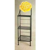 """Art Silhouette Bakers Rack 15""""W - Rose (Burnished Copper)"""
