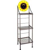 "Art Silhouette Bakers Rack 15""W - Sunflower (Antique Bronze)"