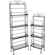 "Light Duty Three Shelf Rack - No Tips 18""W (Satin Black)"