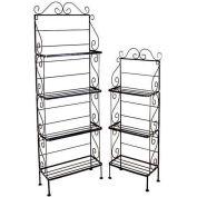 """Light Duty Four Shelf Rack - No Tips 18""""W (Antique Bronze)"""