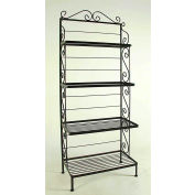 """Graduated Four Shelf Rack - No Tips 24""""W (Antique Bronze)"""