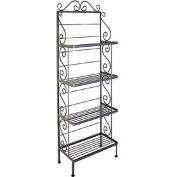 "Standard Four Shelf Rack - No Tips 24""W (Satin Black)"